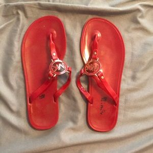 Michael Michael Kors Red Jelly Sandals size 8
